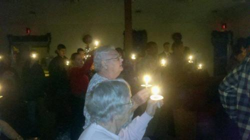 12-25-12 Christmas Eve service candles