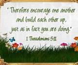 1-13-13 i Thessalonians 5-11 Encourage one another