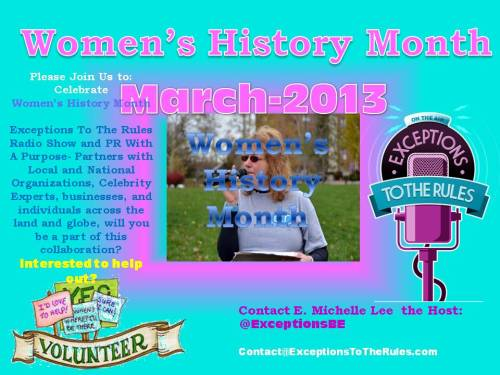 1-26-13 PIC by Exceptions PR With A PurposeWomens History MOnth 2013