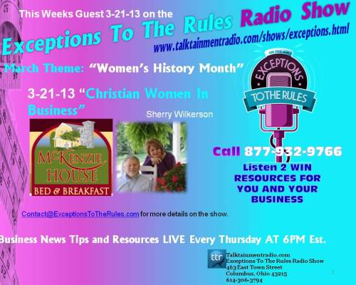 Exceptions Radio Show 3-21-13 Christian Women In Business