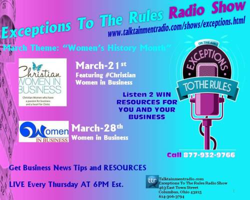 Exceptions Radio Show OHio MBE Ad 3-15-13