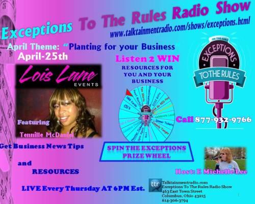 Exceptions Radio Show 4-25----5-2