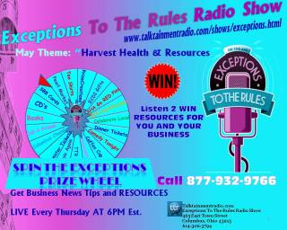 Exceptions Radio Show Prize Wheel