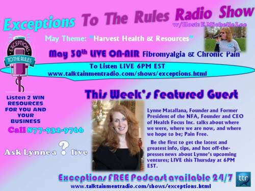 5-29-13 Lynne Matallana Guest on Exceptions To The Rules Show
