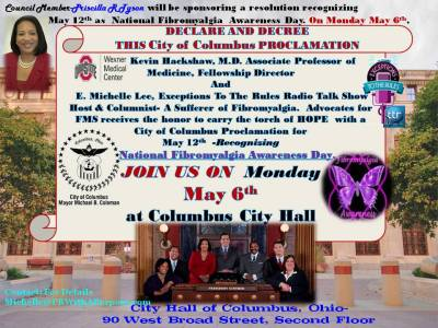 Join US May 6th at Columbus City Hall Fibromyalgia Proclamation 2013