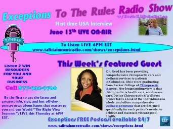6-13-13 Dr Deddeh Reed Guest on Exceptions To The Rules Show