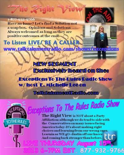 Exceptions Radio Show  8-15-13