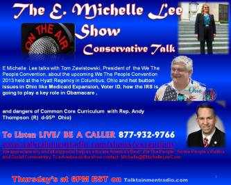 Guest on E Michelle Lee Show 9-26-13