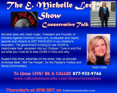 10-03-13 Heidi Huber on E Michelle Lee Show