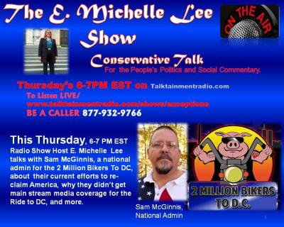 Sam McGinnis Guest on  E Michelle Lee Show 11-7-13